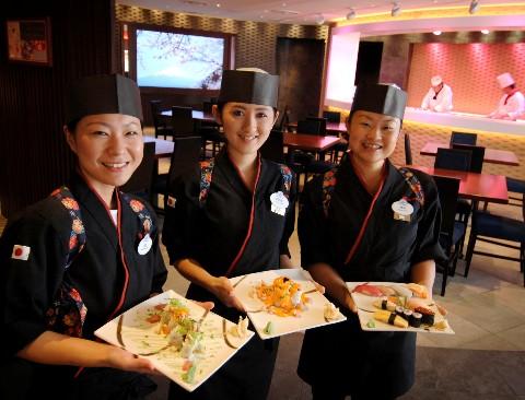 Photo of sushi restaurant goes here.