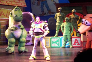 Photo of musical scene from Toy Story - The Musical goes here.