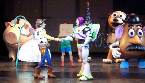 Photo of Woody and Buzz Lightyear goes here.