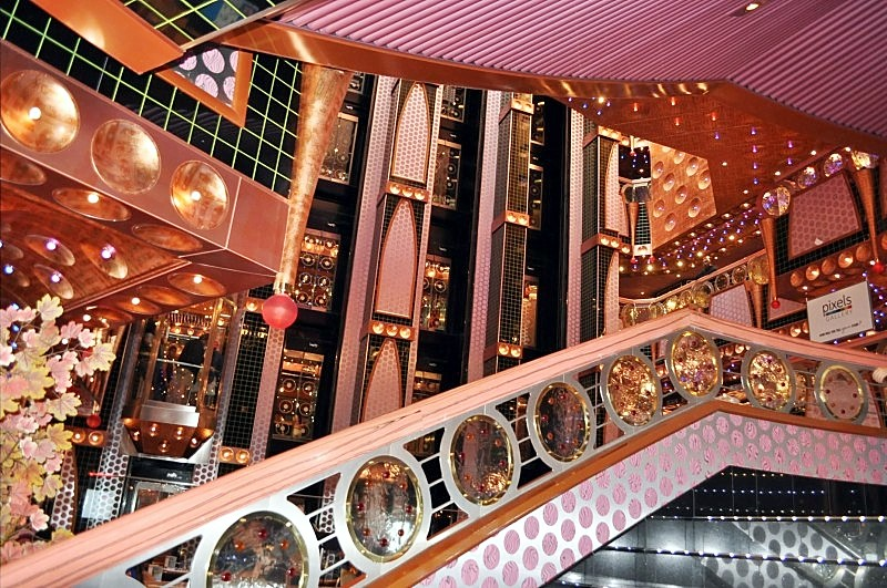 Photo of Carnival Splendor jewel-like atrium decor goes here.*
