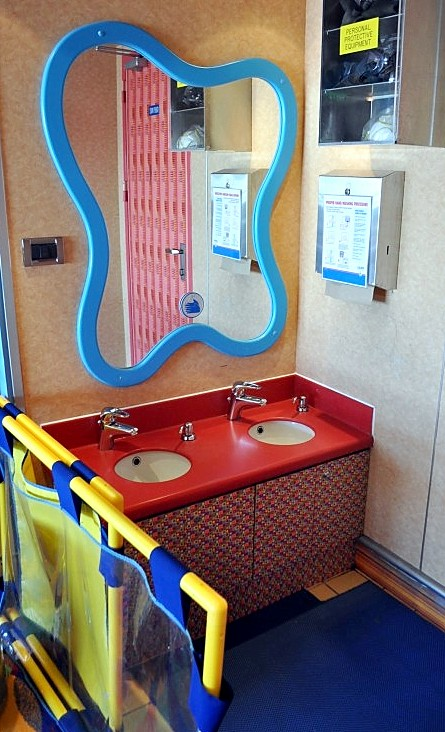 Photo of hand washing station within Carnival Splendor's Camp Carnival goes here.*