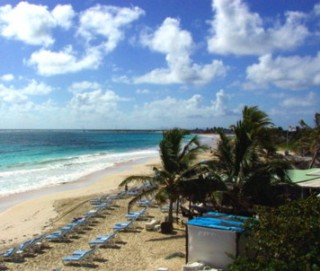 Photo of St. Maarten beach scene goes here.