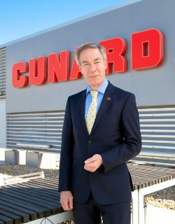 Photo of David Dingle, CEO, Cunard Line, goes here; photo by Cunard Line, all rights reserved.