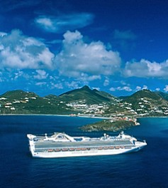 Photo of Princess ship in St. Maarten is shown here.