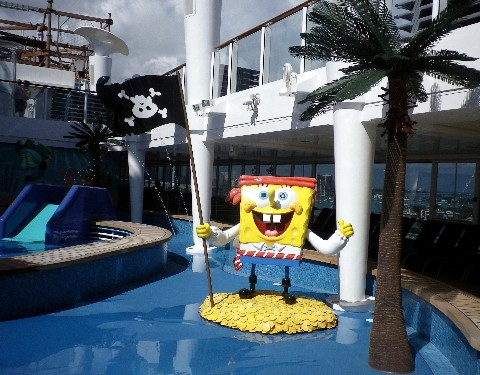 Photo of SpongeBob Square Pants in the Aqua Park goes here.*