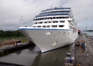 Photo of Oceania Cruises in the Panama Canal goes here.