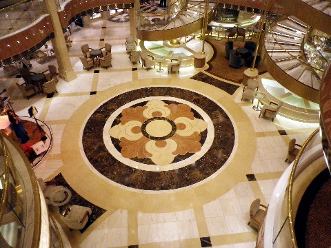 Photo of floor of Grand Piazza and surrounding lounge space and stairways goes here.*
