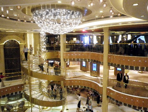 Photo of Royal Princess' Grand Piazza goes here.*