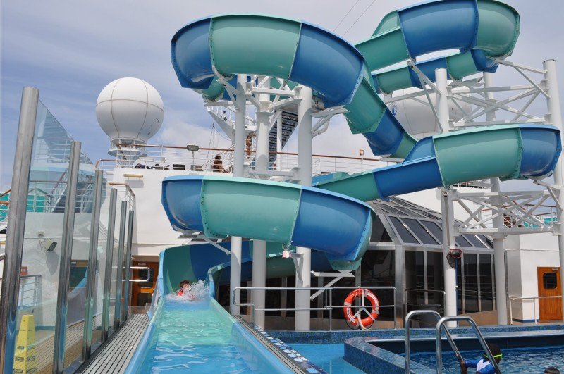 Photo of Water Slide on Carnival Splendor goes here.*