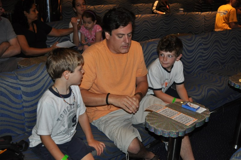 Photo of Joe and kids playing bingo goes here.*