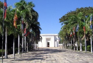 Photo of Simon Bolivar memorial goes here.