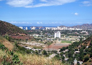 Photo of Santa Marta from the mountains goes here.
