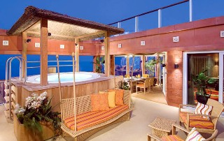Photo of Garden Villa exterior with hot tub goes here.