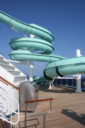 Photo of Carnival water slide goes here.