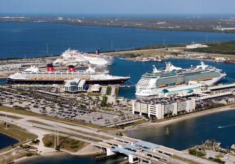 Photo of ships at Port Canaveral goes here.